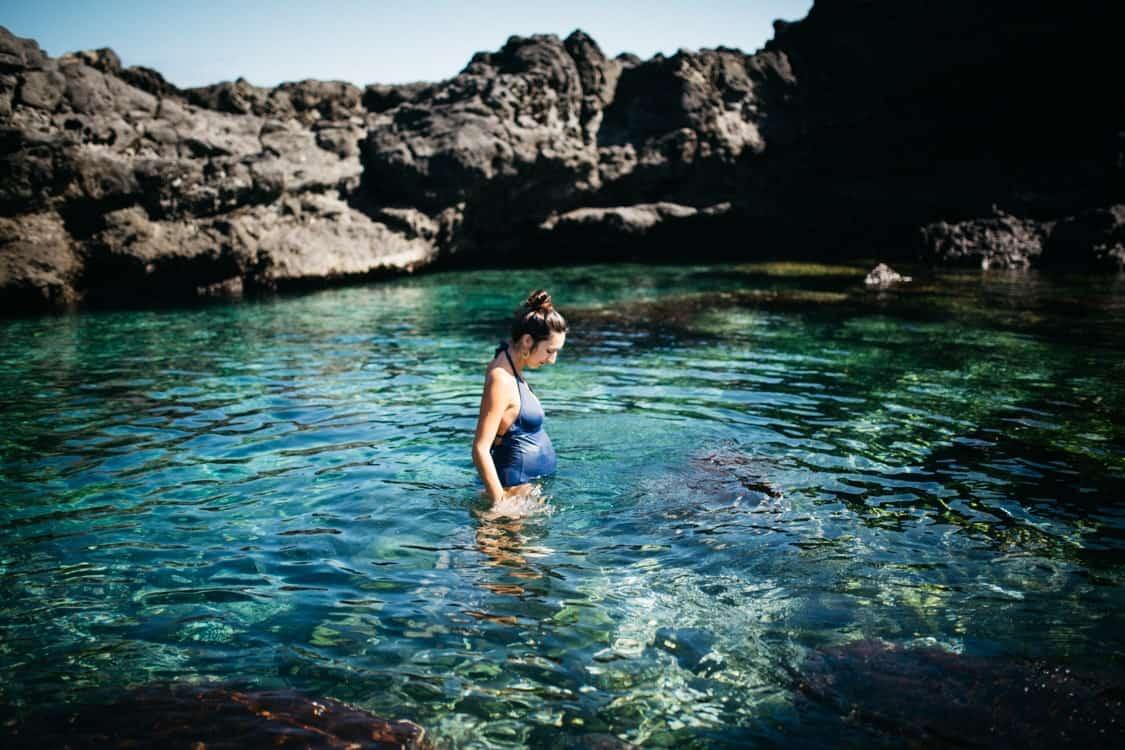 Photo de grossesse au bassin de la caverne