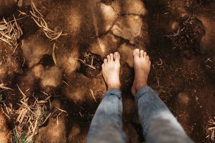 randonnée pied nu